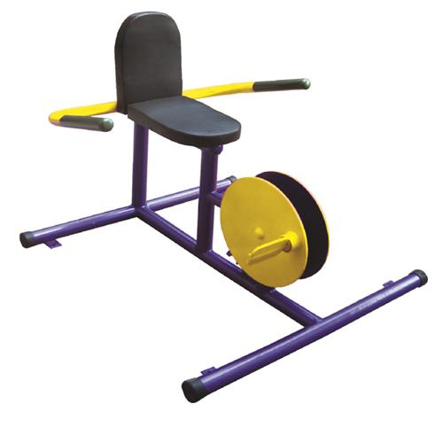 อุปกรณ์บริหารข้อเข่า-ขา (แบบจักรยานล้อเหล็กนั่งพิง)